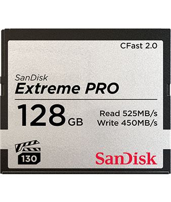 SANDISK EXTREME PRO® CFAST™2.0 128GB MEMORY CARD