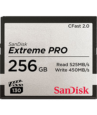 SANDISK EXTREME PRO® CFAST™2.0 256GB MEMORY CARD
