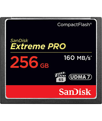 SANDISK EXTREME PRO 256GB 160MB COMPACTFLASH