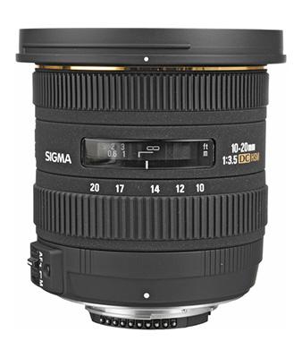 Sigma 10-20mm f/3.5 EX DC HSM Autofocus Zoom Lens