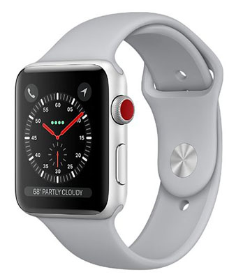 Apple Watch Series 3 Silver Aluminum Case with Fog Sport Band