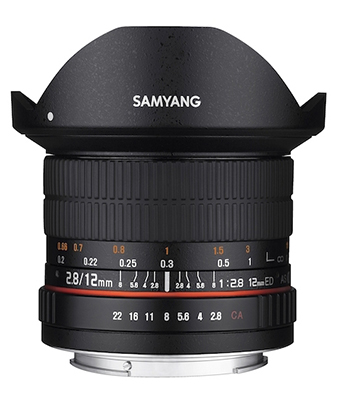 SAMYANG 12mm F2.8 ED AS IF NCS UMC Fisheye Lens