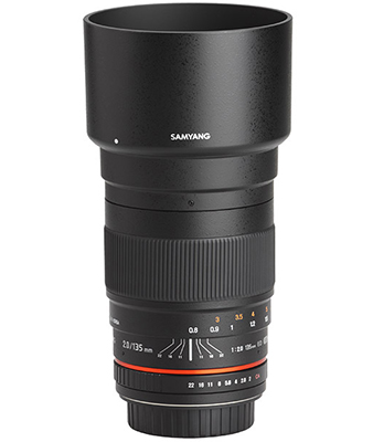 SAMYANG 135mm F2 ED UMC Lens