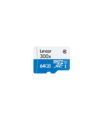 Lexar 64GB High Performance 300x microSDXC UHS-I Memory Card