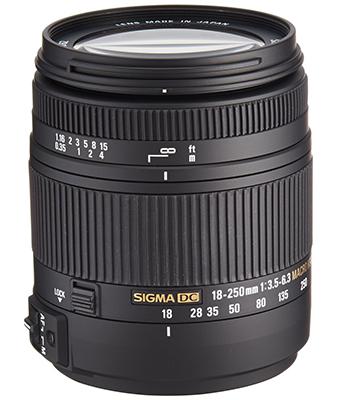 Sigma 18-250mm F3.5-6.3 DC Macro lens
