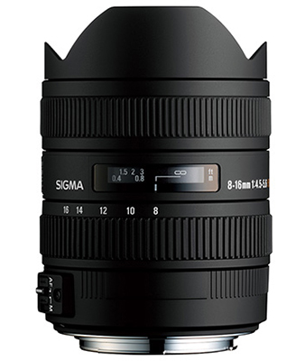 Sigma 8-16mm f/4.5-5.6 DC HSM Ultra-Wide Zoom Lens