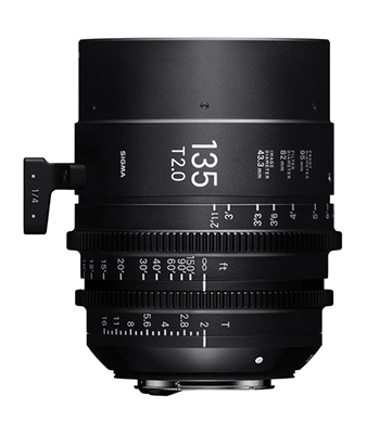 Sigma 135mm T2 Fully Luminous FF High Speed Prime Lens