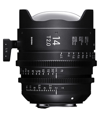 Sigma 14mm T2 Fully Luminous FF High Speed Prime Lens