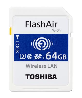 Toshiba Flash Air 4k Wifi Wireless SD Memory Card W04