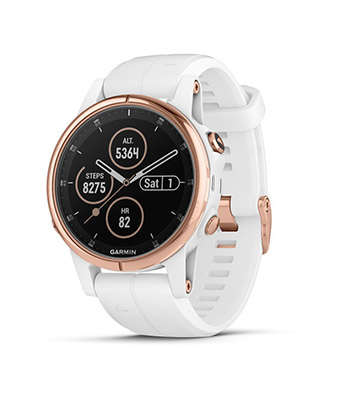Garmin fenix 5S Plus Sapphire,Rose Gold-tone with Carrara White Band