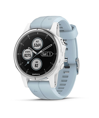 Garmin fenix 5S Plus White with Sea Foam Band