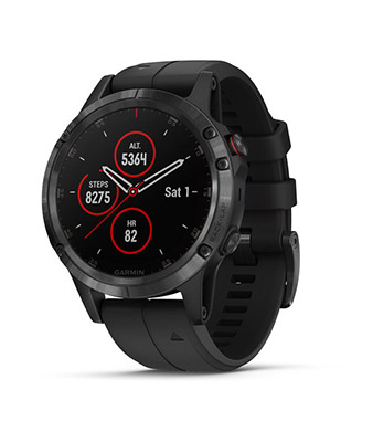 Garmin fenix 5 Plus Sapphire, Black with Black Band