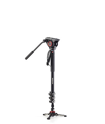 Manfrotto MVMXPRO500US XPRO Monopod+ Four-Section Alu w/ Fluid Video Head