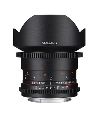 SAMYANG 14mm T3.1 ED AS IF UMC VDSLR II Lens