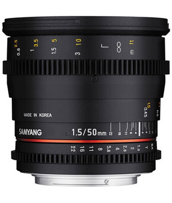 SAMYANG 50mm T1.5 AS UMC Cine Lens